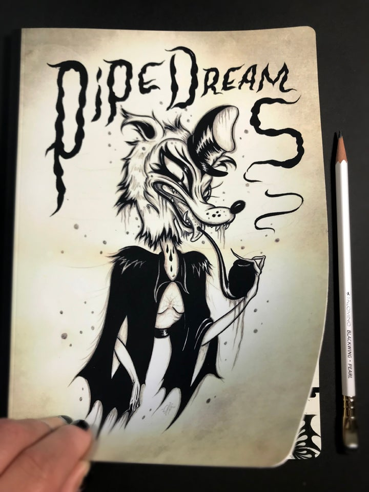 "Image of ""Pipe Dreams"" sketchbook"