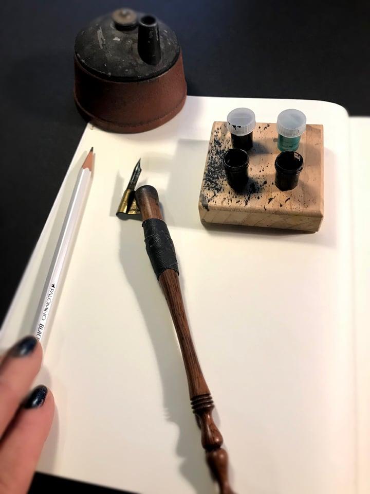 """Image of """"Pipe Dreams"""" sketchbook"""