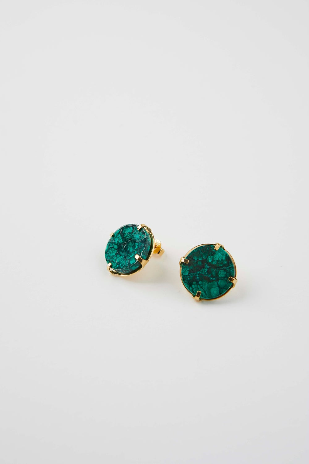 Image of Boucles d'oreilles malachite