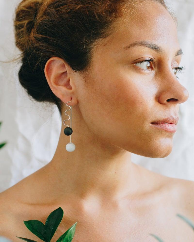Image of wave earring
