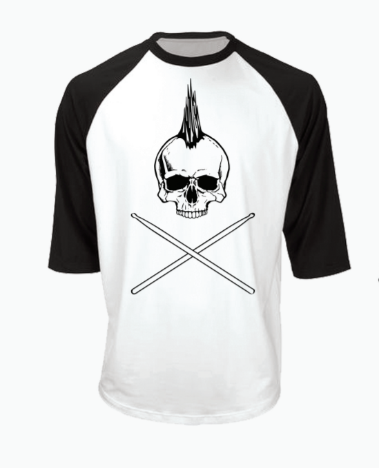 Image of Skull Baseball Tee