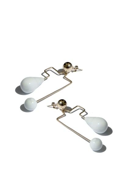 Image of maze earring