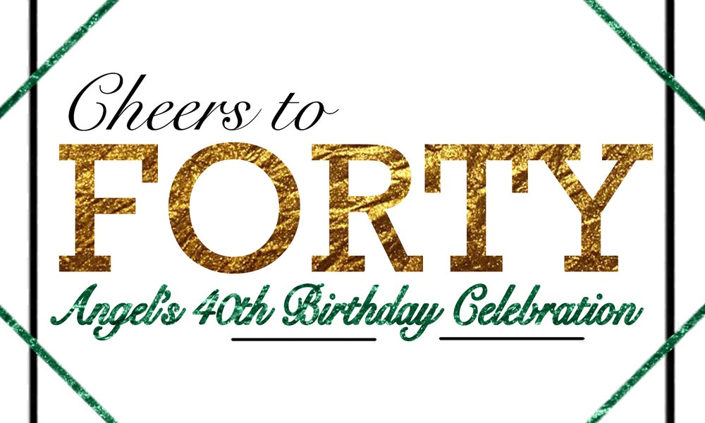 Image of 40th Birthday Labels
