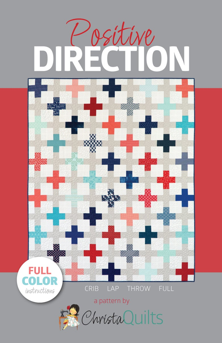 Image of Positive Direction Quilt Pattern - ON SALE!