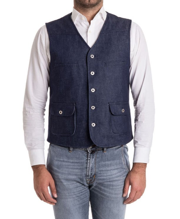 Image of GILET DENIM BLUE R90BI