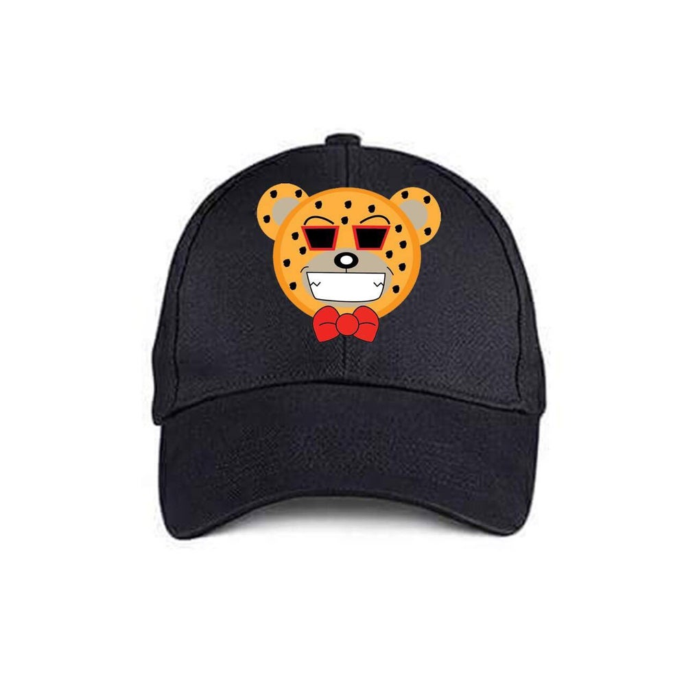 Image of Black Cheetah Bear Cap