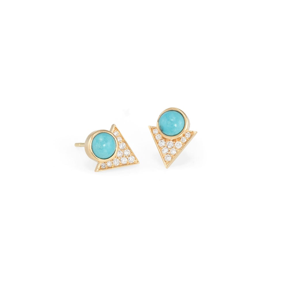 Image of Turquoise Pollux Earrings
