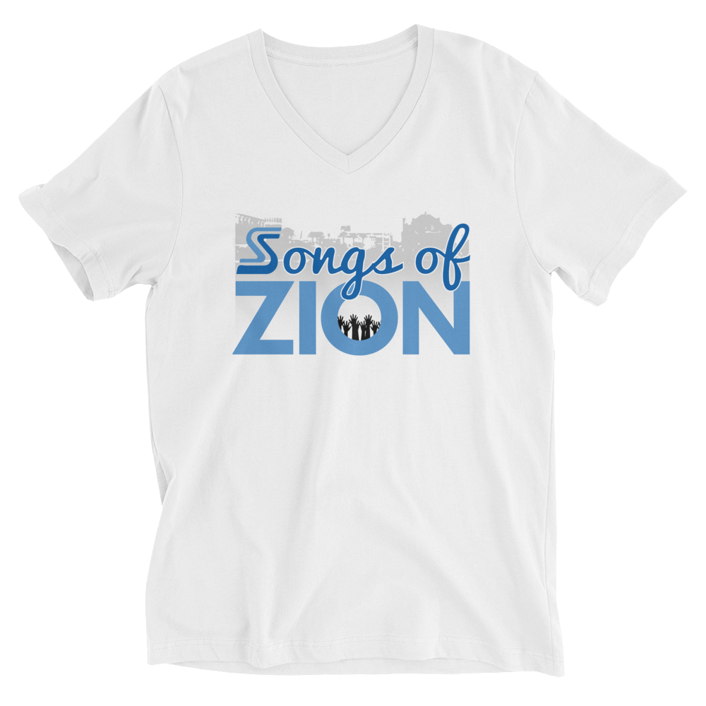Image of Songs of Zion - V Neck Psalm 100.1 Tee