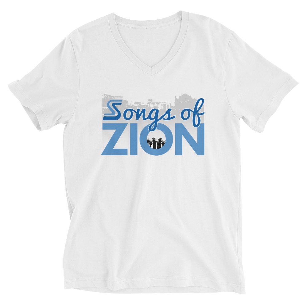 Image of Songs of Zion - V Neck Psalm 137.5 Tee