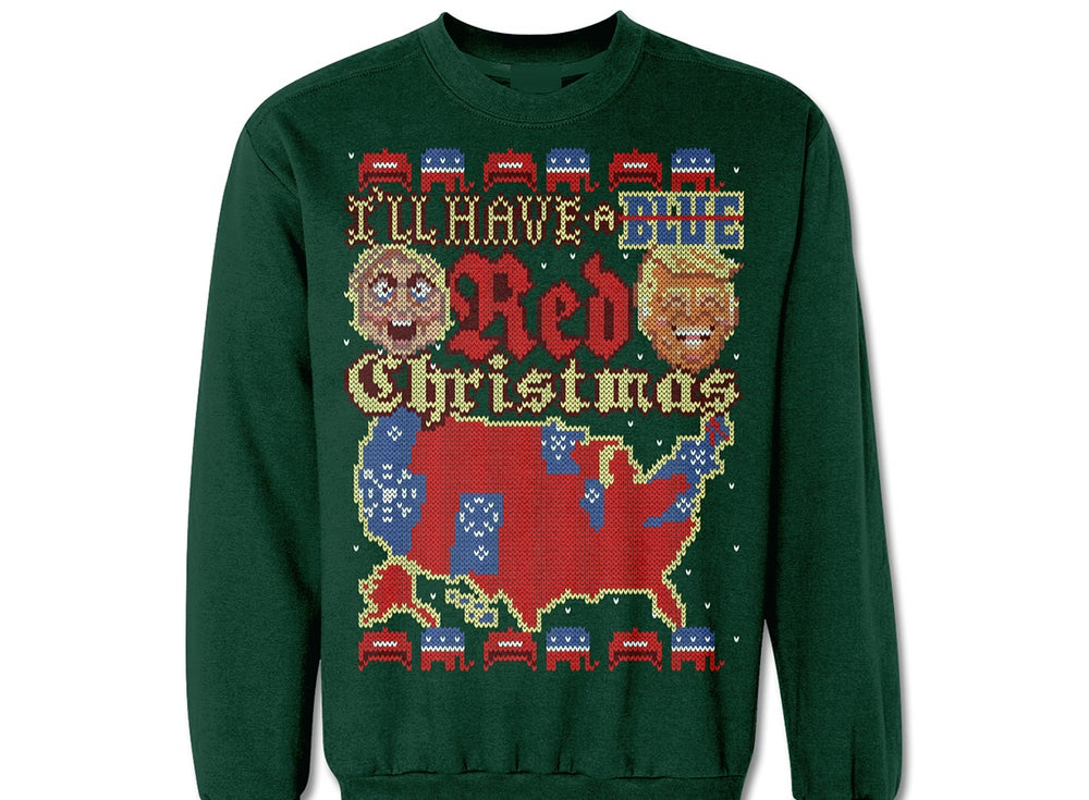 Trump Christmas Sweater.Red Christmas Trump Ugly Christmas Sweater