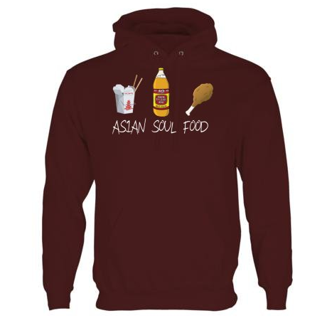 Image of Asian Soul Food Hoodie (Maroon)