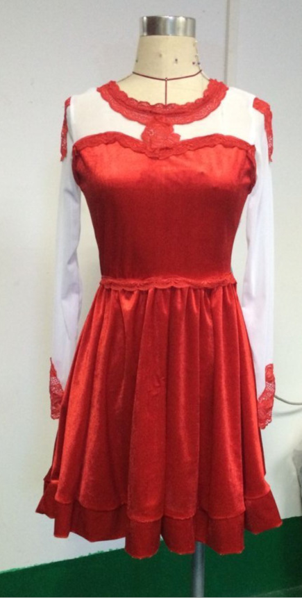 Image of FASHION RED FLOWER CULTIVATE ONE'S MORALITY DRESS