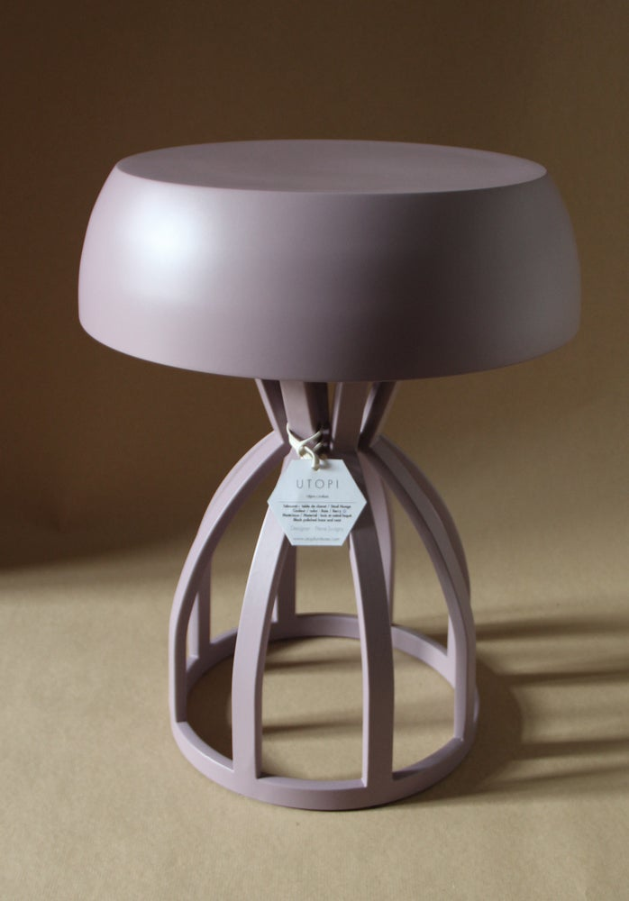 Image of NUAGE - Tabouret / table de chevet / coloris : Berry