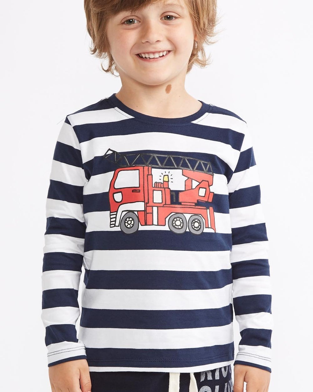 Image of Boys fire truck top
