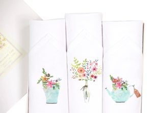 Image of Ladies blossom hankies set
