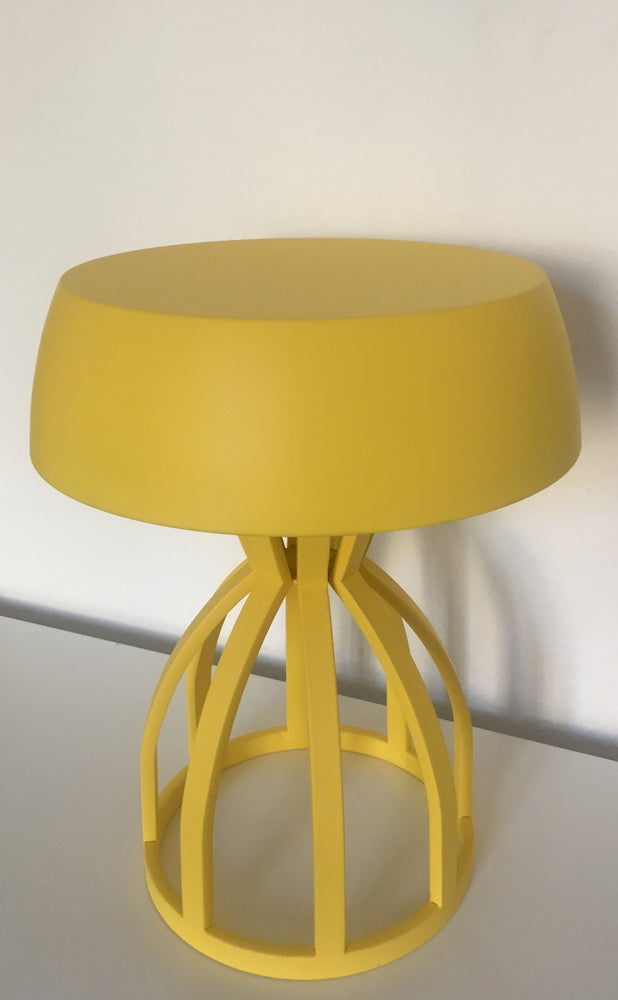 Image of NUAGE - Tabouret/table de chevet / coloris : Lemon
