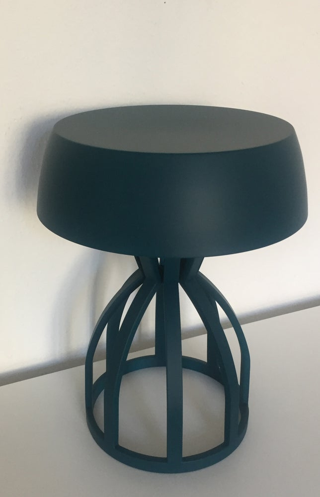 Image of NUAGE - Tabouret/table de chevet / coloris : Petrol Blue