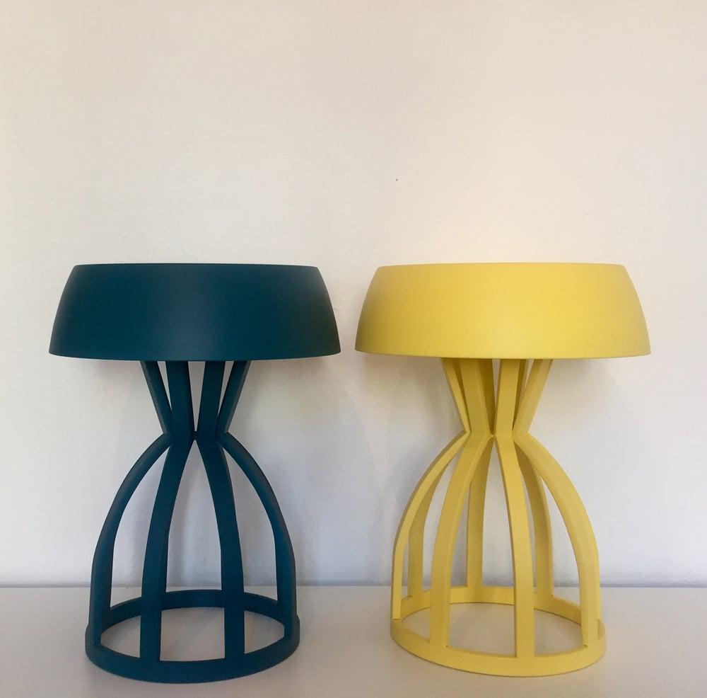 Image of NUAGE - Tabouret/table de chevet / coloris : Lemon
