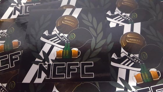 Image of Notts County NCFC Football Casuals / Ultras 7x7cm Stickers. Pack of 25.