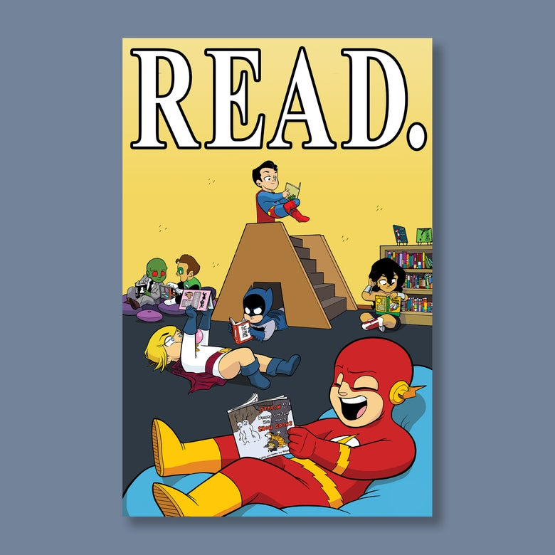 "Image of ""READ,"" 11""x17"" Signed Print"