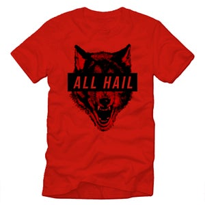 Image of SOLD OUT | 24 HOURS ONLY | RED ALL HAIL TEE | AWAREWOLVVVES SZN ONE
