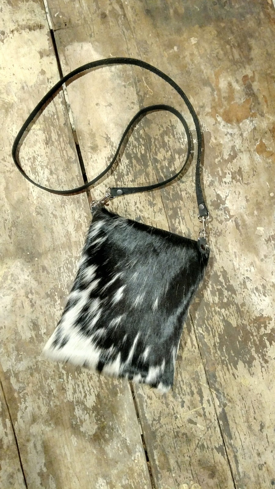 Image of Cowhide & Leather Bag - Handmade by Zoey's
