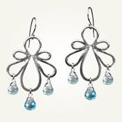 Image of Biergarten Earrings with Blue Topaz, Sterling Silver