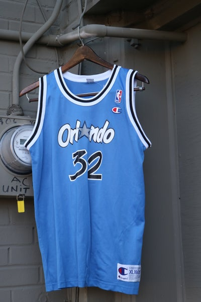 "Image of Rare 90's Vintage Champion ""SHAQUILLE O'NEAL Orlando Magic"" Basketball Jersey Sz: Youth X-LARGE"