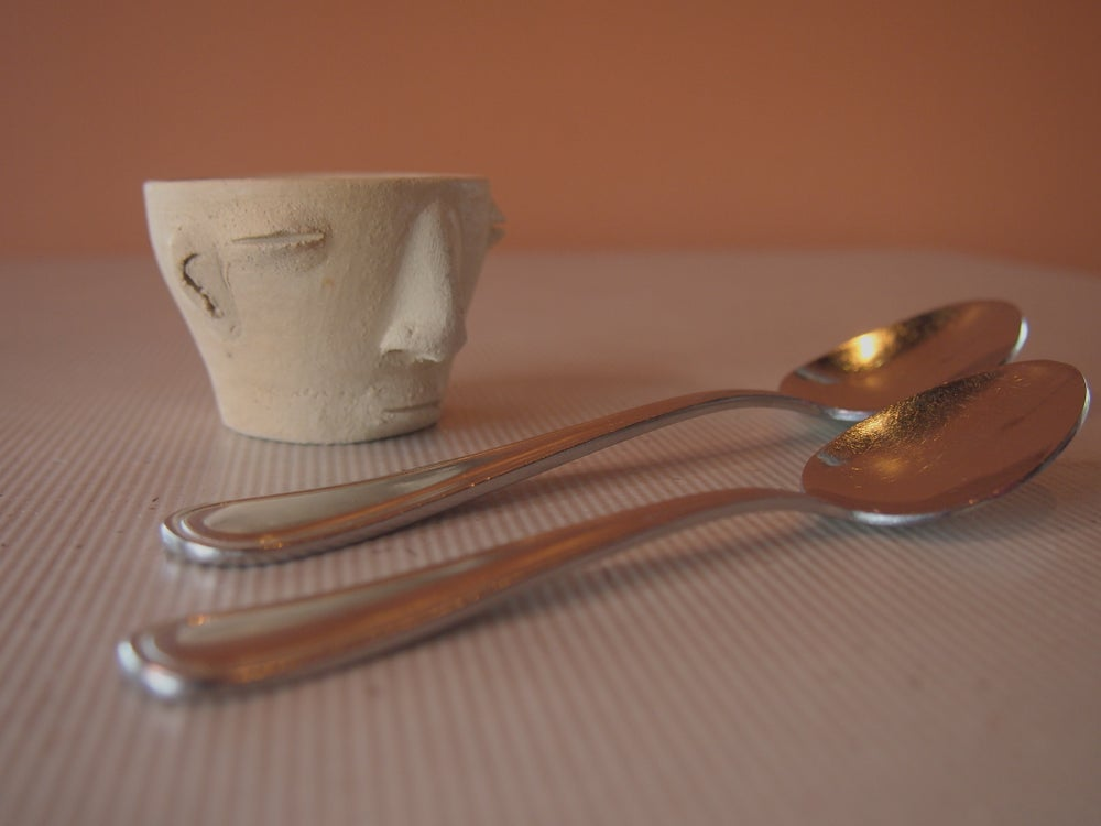Image of Zapotec head shot glass