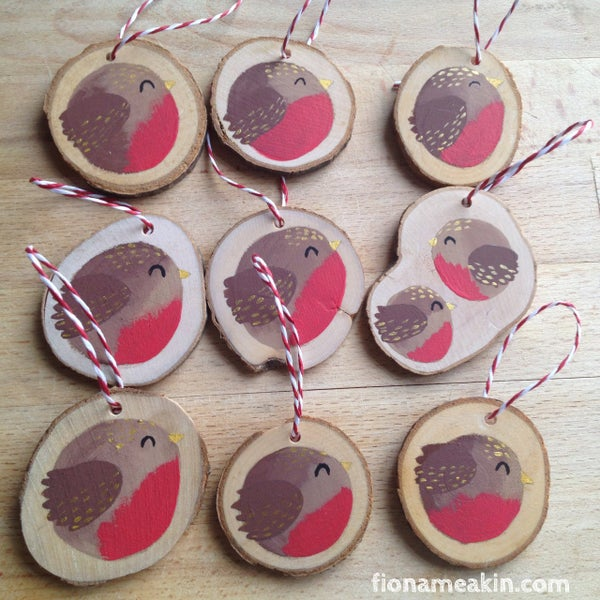Image of Robin Tree Decorations - £3.50 or 3 for £10