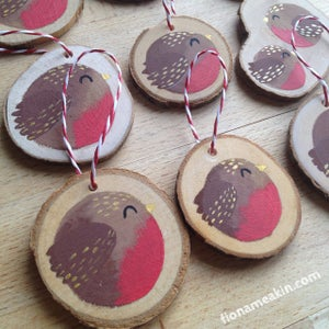 Image of Robin Tree Decorations - Pre-orders