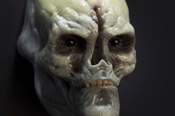 Image of Newborn Alien Face Design Maquette
