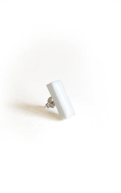 Image of white bar earring