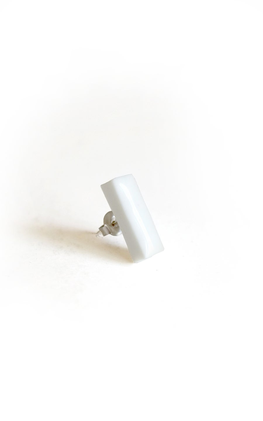 Image of white bar earring