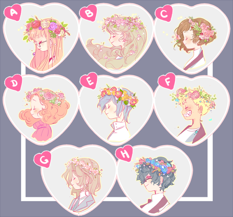 Image of Persona Heart Buttons