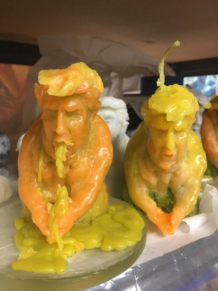 Image of Handmade puking trump impeachment candle