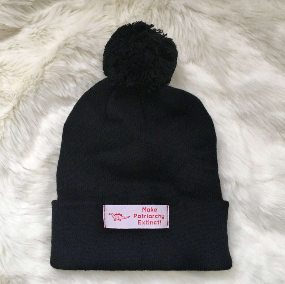 Image of Make Patriarchy Extinct Pom Pom Beanie