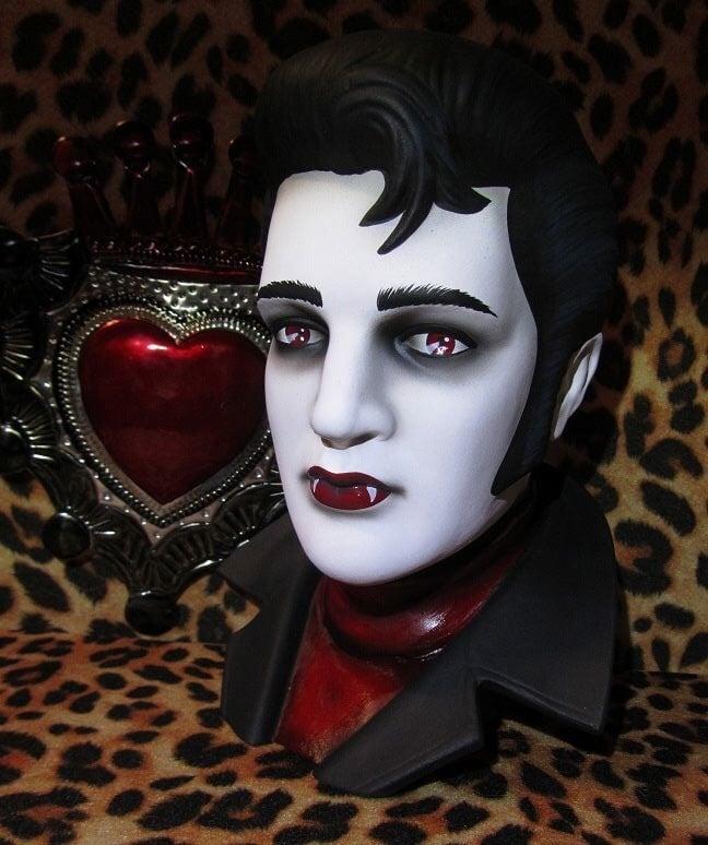 Image of Vampire Elvis Bust