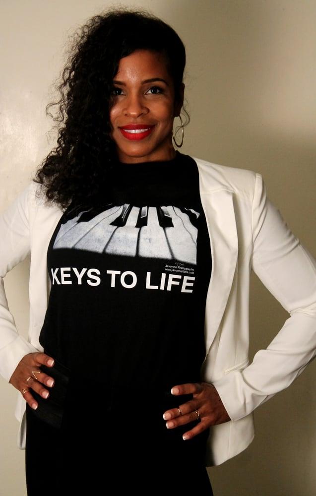 Image of KEYS TO LIFE  (Black T-Shirt)