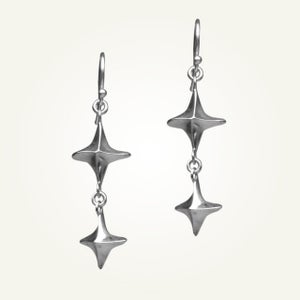 Image of Canis Minor Earrings, Sterling Silver