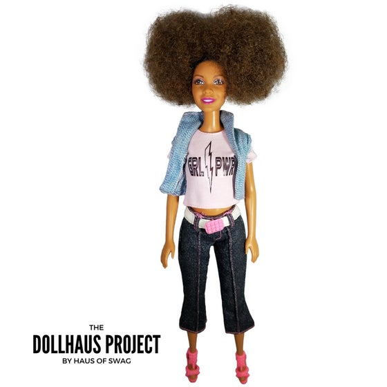 Image of GRL PWR Pink Denim Collector Doll