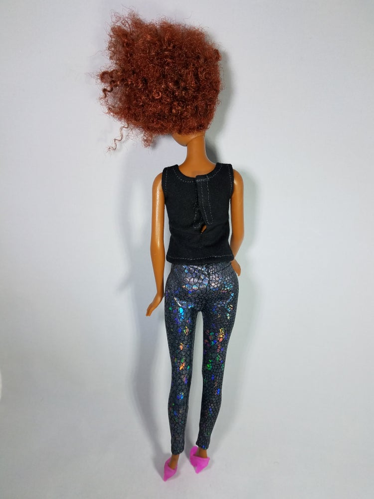 Image of Short Hair Don't Care (Black Tank) Collector Doll