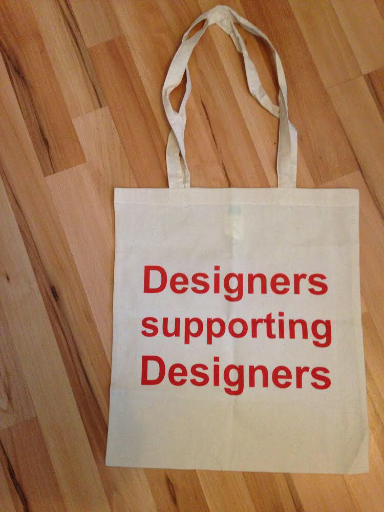 Image of Designers supporting Designers tote bag