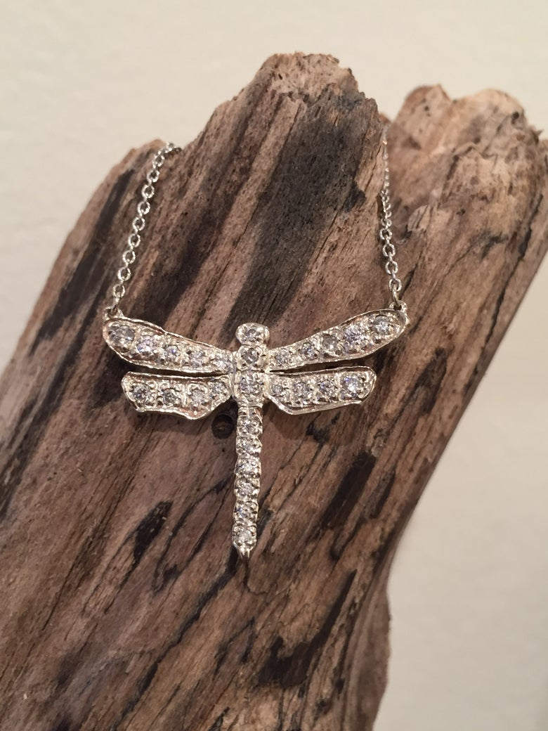 Image of 14K Diamond Dragonfly