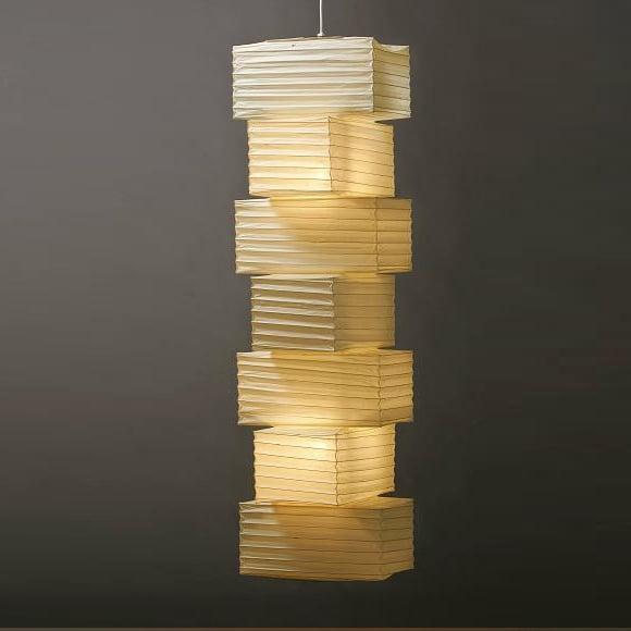 Image of Isamu Noguchi Light Sculpture AKARI Hanging Lamp 36N+PE2-16