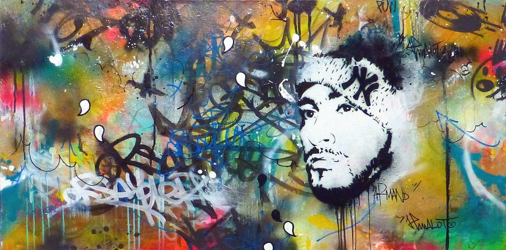 Image of Armand 90's (Armand Van Helden on canvas)