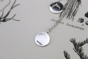 Image of 'Wilderness' silver disc necklace