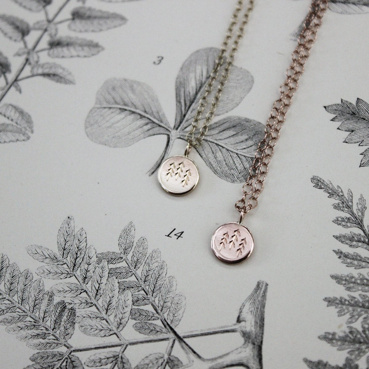 Image of Wilderness' little gold disc necklace