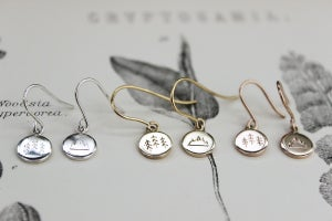 Image of 'Wilderness' little disc earrings in silver or gold