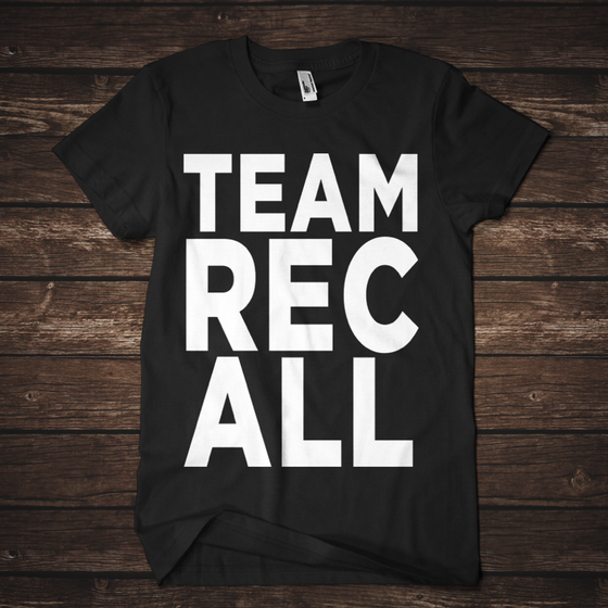 Image of #TeamRecall Tour Tee